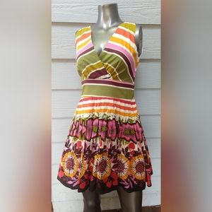 Aryeh striped sundress small,NWT